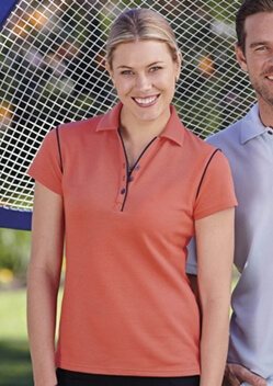 Stencil Bio-Weave Ladies Polo 1034 1