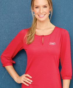 Stencil Silvertech Ladies 3/4 Sleeved Top 1258Q