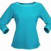 Stencil Argent Ladies 3/4 Sleeved Top 1259Q