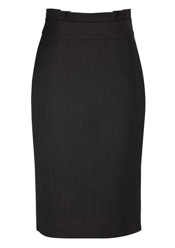 BC Ladies Cool Stretch Plain Waisted Pencil Skirt 20116 2