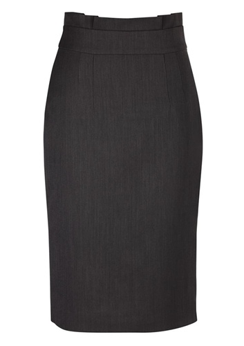 BC Ladies Cool Stretch Plain Waisted Pencil Skirt 20116 3