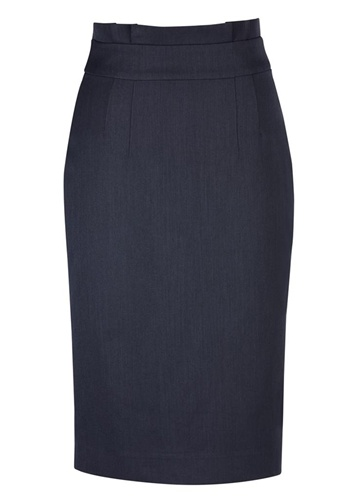 BC Ladies Cool Stretch Plain Waisted Pencil Skirt 20116 4
