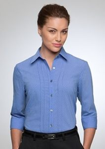 CC City Stretch Spot Ladies 3/4 Sleeve Shirt 2172