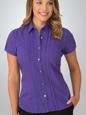 CC City Stretch Spot Ladies Short Sleeve Shirt 2173 6