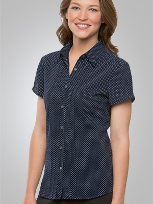 CC City Stretch Spot Ladies Short Sleeve Shirt 2173 7