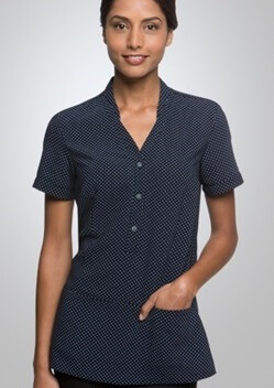 CC City Stretch Spot Ladies Short Sleeve Tunic 2174