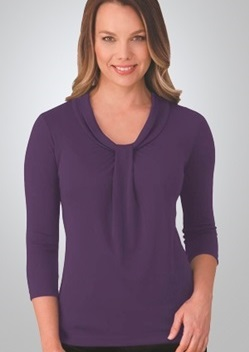 CC Pippa Ladies 3/4 Sleeve Knit Top 2221 1