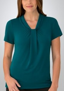 CC Pippa Ladies Short Sleeve Knit Top 2222
