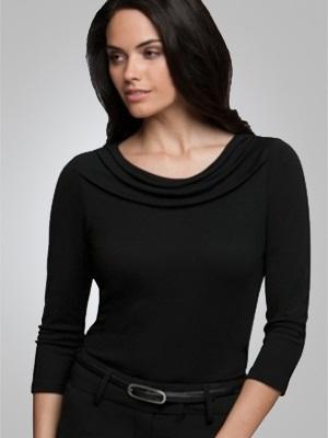 CC Eva Ladies 3/4 Sleeve Knit Top 2226 2