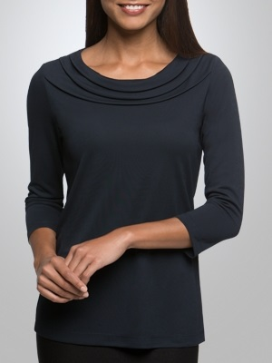 CC Eva Ladies 3/4 Sleeve Knit Top 2226 3