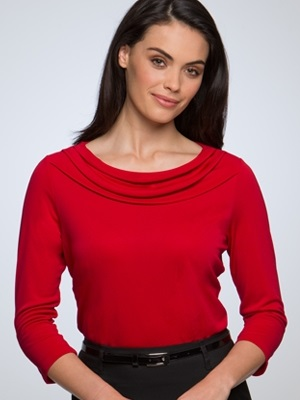 CC Eva Ladies 3/4 Sleeve Knit Top 2226 4