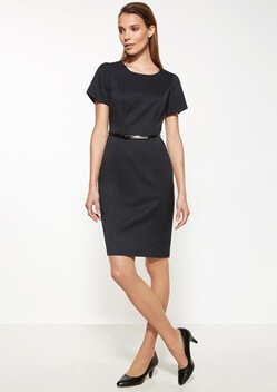 BC Ladies Cool Stretch Plain Shift Dress 30112