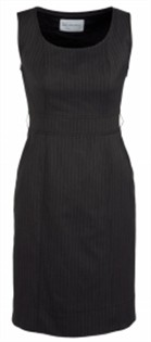 BC Ladies Cool Stretch Pinstripe Sleeveless Side Zip Dress 30211 4