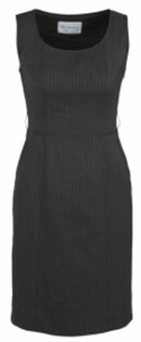 BC Ladies Cool Stretch Pinstripe Sleeveless Side Zip Dress 30211 2