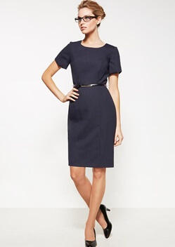BC Ladies Wool Stretch Shift Dress 34012