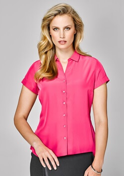 BC Solanda Ladies Plain Short Sleeve Shirt 40412
