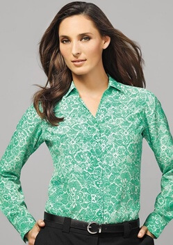 BC Solanda Ladies Print Long Sleeve Shirt 40510