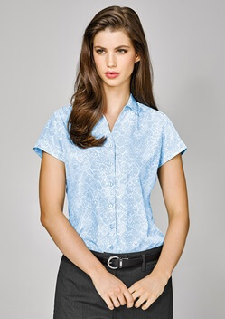 BC Solanda Ladies Print Short Sleeve Shirt 40512
