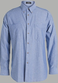 JB Cotton Chambray Adults Long Sleeve Shirt 4C-LS