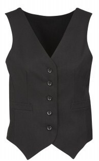 BC Ladies Cool Stretch Plain Peaked Vest with Knitted Back 50111