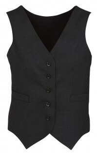 BC Ladies Wool Stretch Peaked Vest with Knitted Back 54011 4
