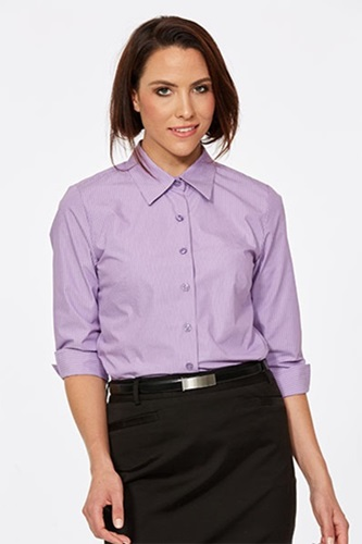 CR Model Stripe Ladies Semi Fitted 3/4 Sleeve Shirt 6070Q12 3