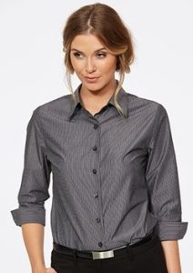 CR Model Stripe Ladies Semi Fitted 3/4 Sleeve Shirt 6070Q12
