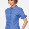CR Model Stripe Ladies Semi Fitted Short Sleeve Shirt 6070Z12