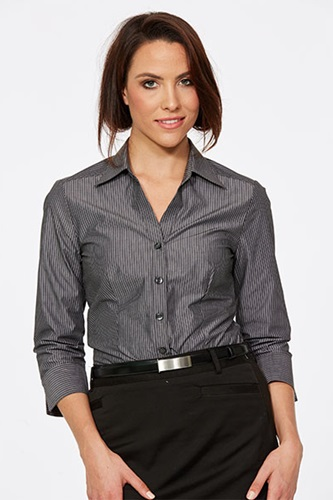 CR Model Stripe Ladies Fitted 3/4 Sleeve Shirt 6200Q12 2