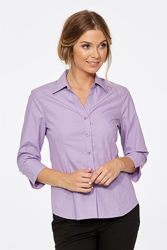 CR Model Stripe Ladies Fitted 3/4 Sleeve Shirt 6200Q12 3