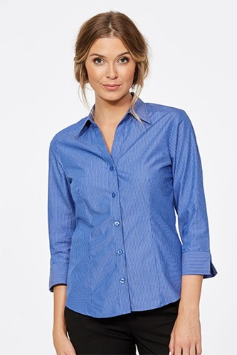 CR Model Stripe Ladies Fitted 3/4 Sleeve Shirt 6200Q12 4