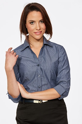 CR Model Stripe Ladies Fitted 3/4 Sleeve Shirt 6200Q12 5