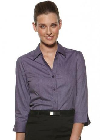CR Deluxe Ladies 3/4 Sleeve Shirt 6200Q35 3