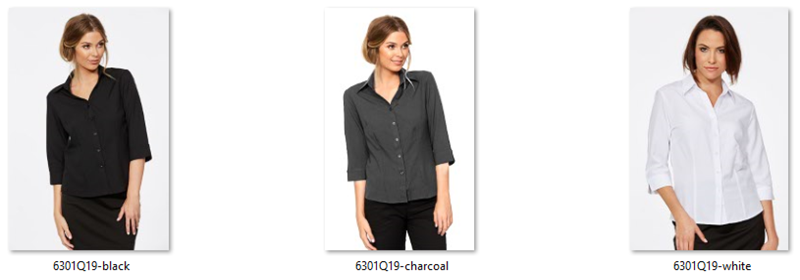 CR Climate Smart Ladies Semi Fitted 3/4 Sleeve Shirt 6301Q19 2