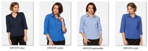CR Climate Smart Ladies Semi Fitted 3/4 Sleeve Shirt 6301Q19 3
