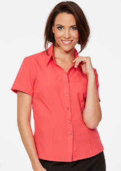 CR Climate Smart Ladies Semi Fitted Short Sleeve Shirt 6301S19 1