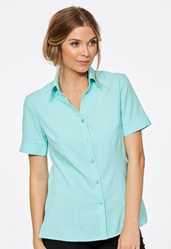 CR Climate Smart Ladies Easy Fit Short Sleeve Shirt 6303V19 1
