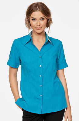 CR Climate Smart Ladies Easy Fit Short Sleeve Shirt 6303V19 10