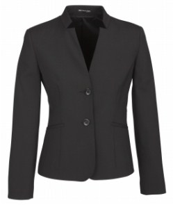 BC Ladies Wool Stretch Short Jacket with Reverse Lapel 64013