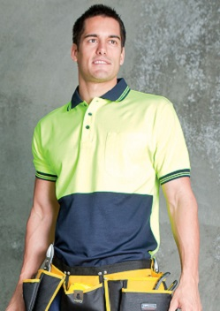 JB Hi Vis Cotton Back Adults Short Sleeve Polo 6HPS
