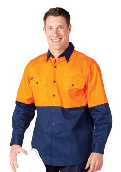 JB Hi Vis Long Sleeve Shirt 6HWL