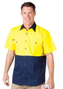 JB Hi Vis Short Sleeve Shirt 6HWS 1