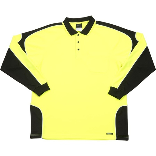 JB Hi Vis Arm Panel Adults Long Sleeve Polo 6AP4L 2