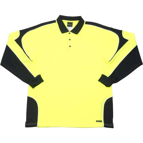 JB Hi Vis Arm Panel Adults Long Sleeve Polo 6AP4L 4