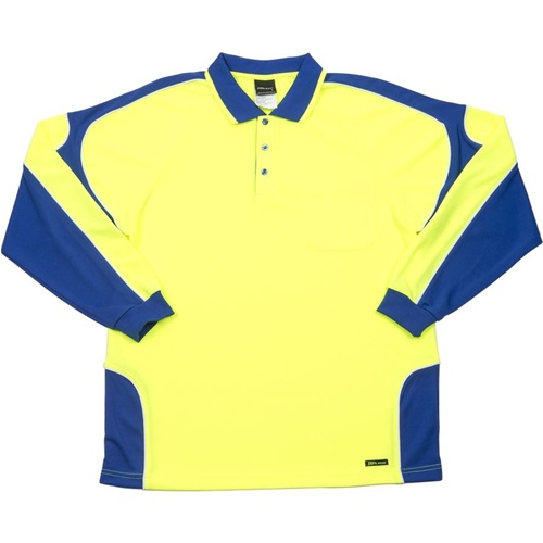 JB Hi Vis Arm Panel Adults Long Sleeve Polo 6AP4L 5