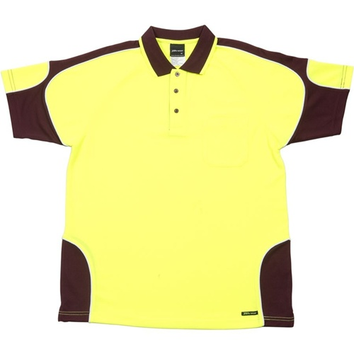 JB Hi Vis Arm Panel Adults Short Sleeve Polo 6AP4S 3