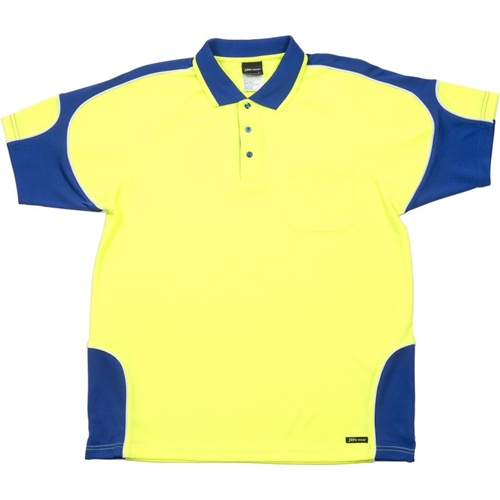 JB Hi Vis Arm Panel Adults Short Sleeve Polo 6AP4S 5