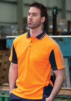 JB Hi Vis Arm Tape Adults Short Sleeve Polo 6AT4S
