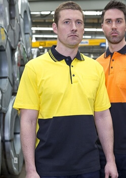 JB Hi Vis Cotton Adults Short Sleeve Polo 6CPHV
