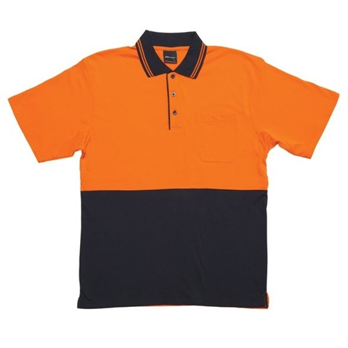 JB Hi Vis Cotton Adults Short Sleeve Polo 6CPHV 2